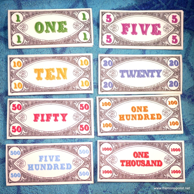 New 1930s-style play money from The Folkopoly Press.