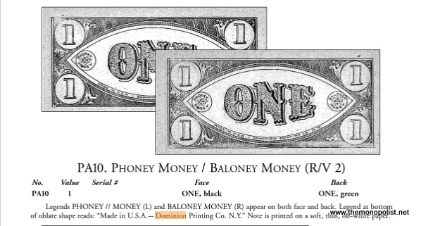 The only information I can find about these bills online comes from Show Me the Money! The Standard Catalog of Motion Picture, Television, Stage and Advertising Prop Money by Fred L. Reed.