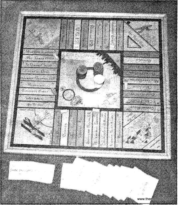 Notice the bits of Berks on this Monopoly board, owned by the Thun family, which dates to the 1920s: In one corner, a man sits on a bench in City Park reading the Reading Eagle, and Reading Railroad makes tracks through the middle of the upper row of properties on this hand-drawn, home-fashioned plywood board.