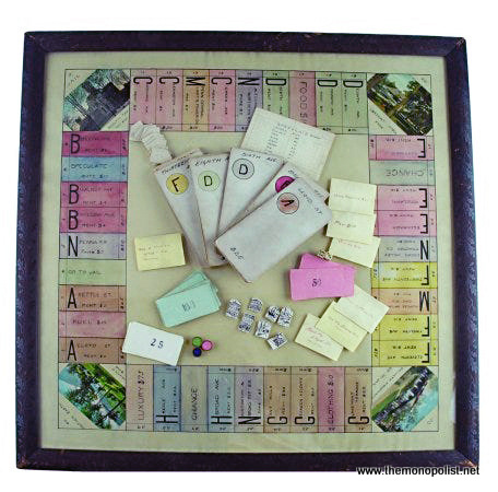 The Heap Monopoly board (circa 1913), now at the Strong Museum of American Play.